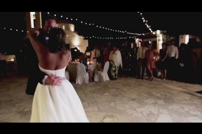 The Anassa Cyprus Wedding Video by destination wedding videographers kissing gate films